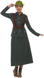 WW2 Army Warden Lady Ladies Costume