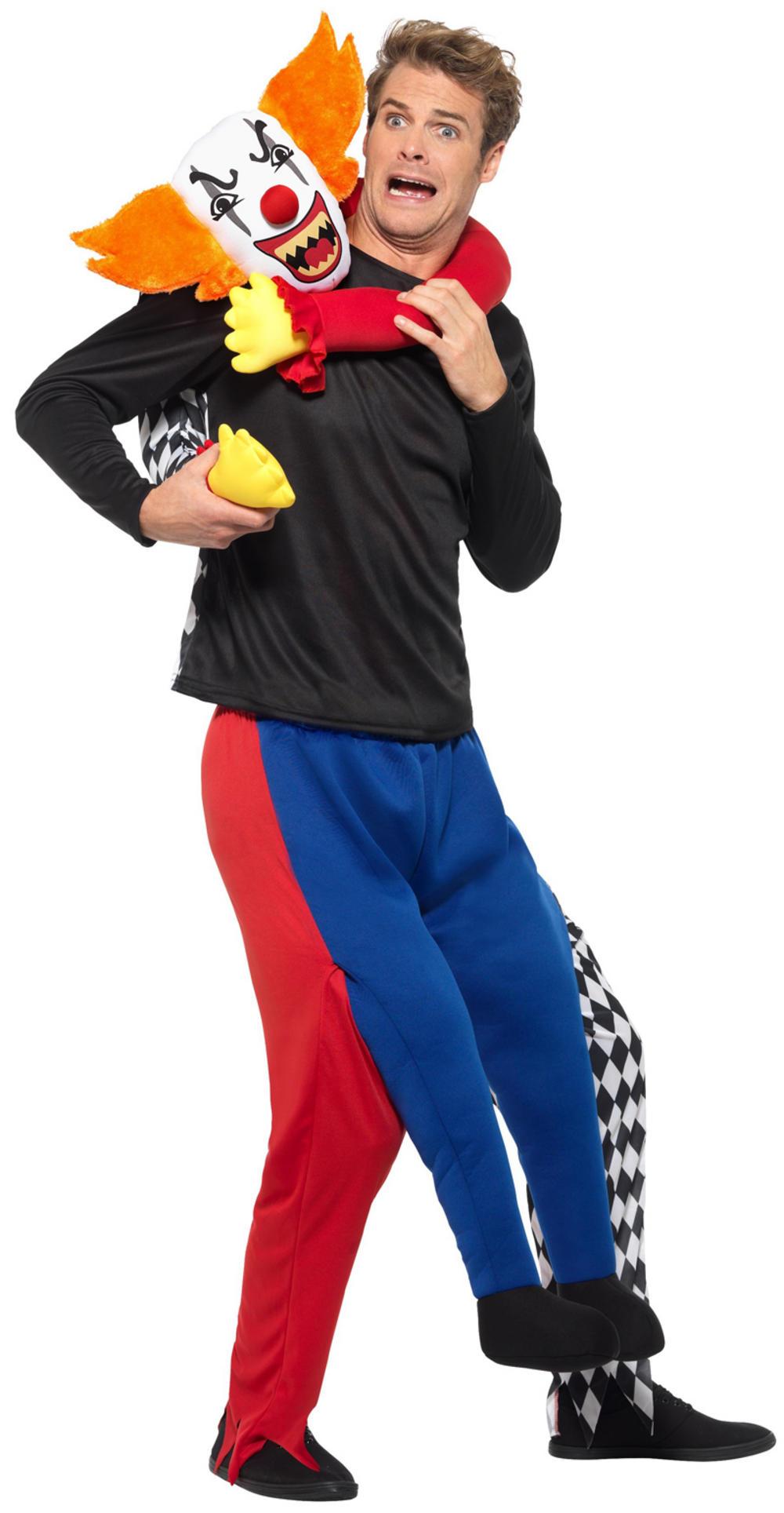 Piggyback Kidnap Clown Adults Costume