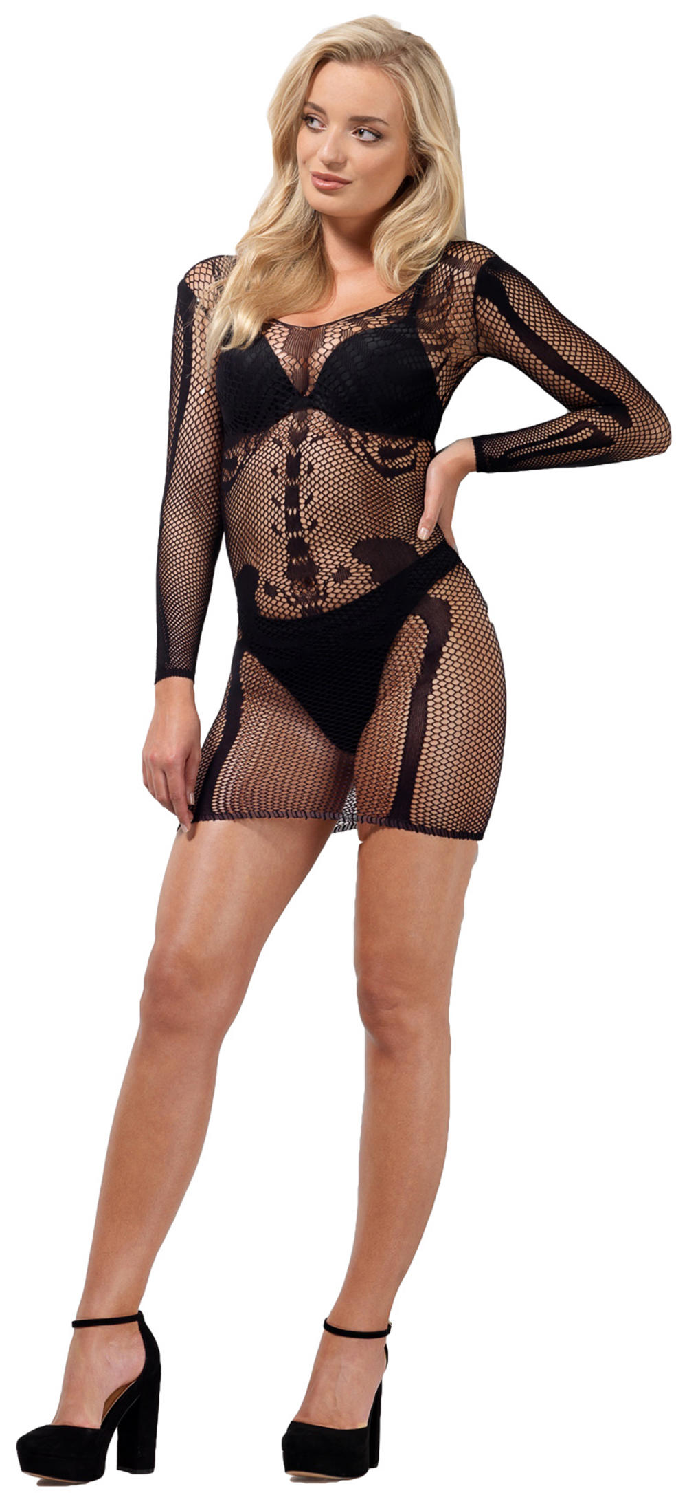 Skeleton Bone Net Dress