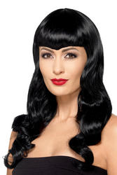 Deluxe Wavy Wig With Shaped Fringe