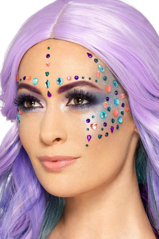 Colourful Jewel Face Gems