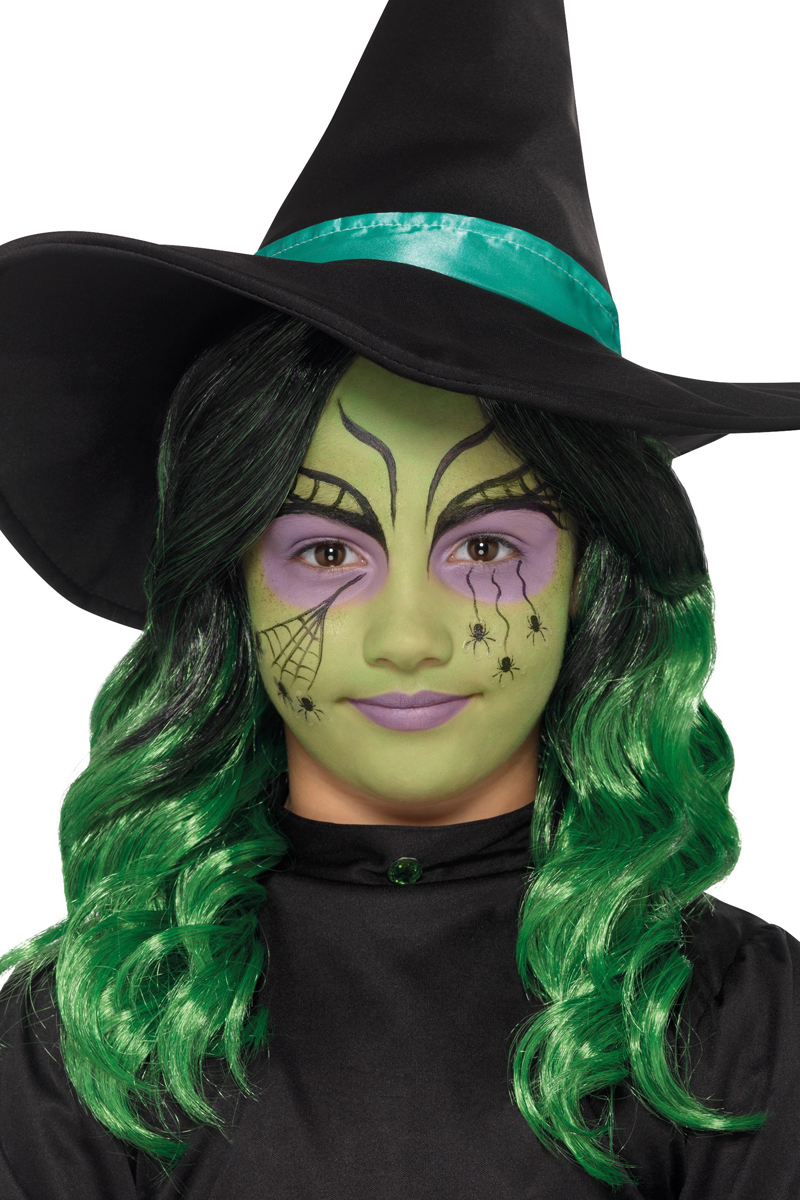 witch make up kids kit halloween accessories mega fancy dress
