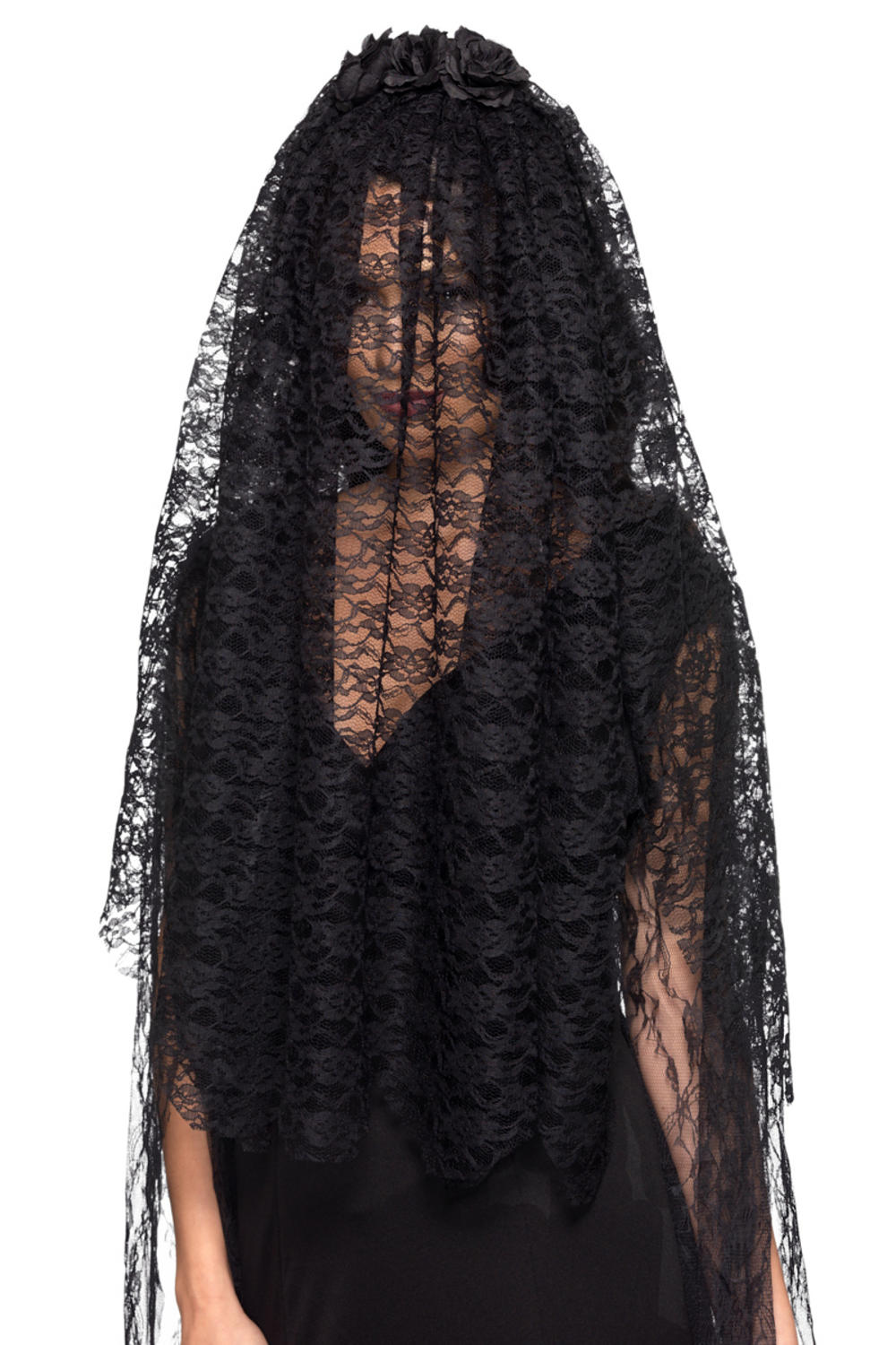 Black Widow Veil Halloween Accessories Mega Fancy Dress