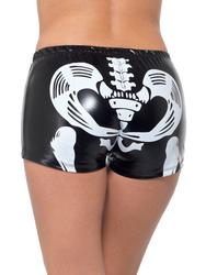 Fever Miss Skeleton Whiplash Ladies Costume Hotpants