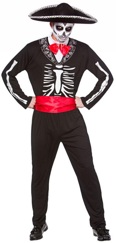 Mariachi Day of the Dead Mens Costume