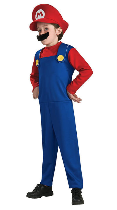 Super Mario Boys Costume Large