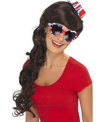 Union Jack Flag Heart Shaped Sunglasses Fancy Dress Costume Accessory