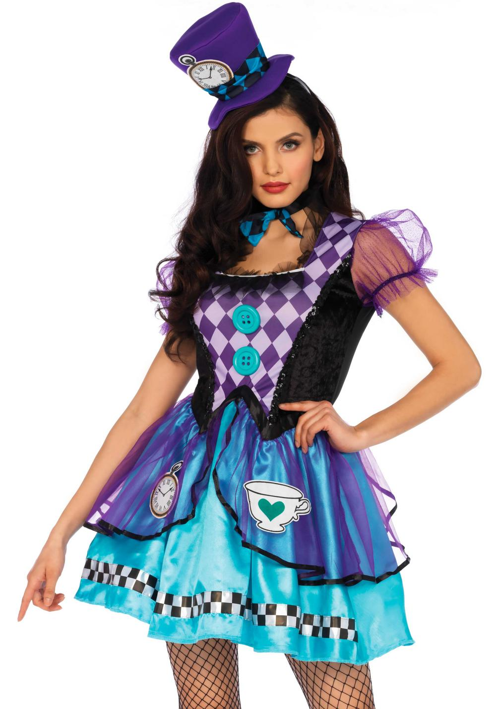 Tea Time Mad Hatter Ladies Costume