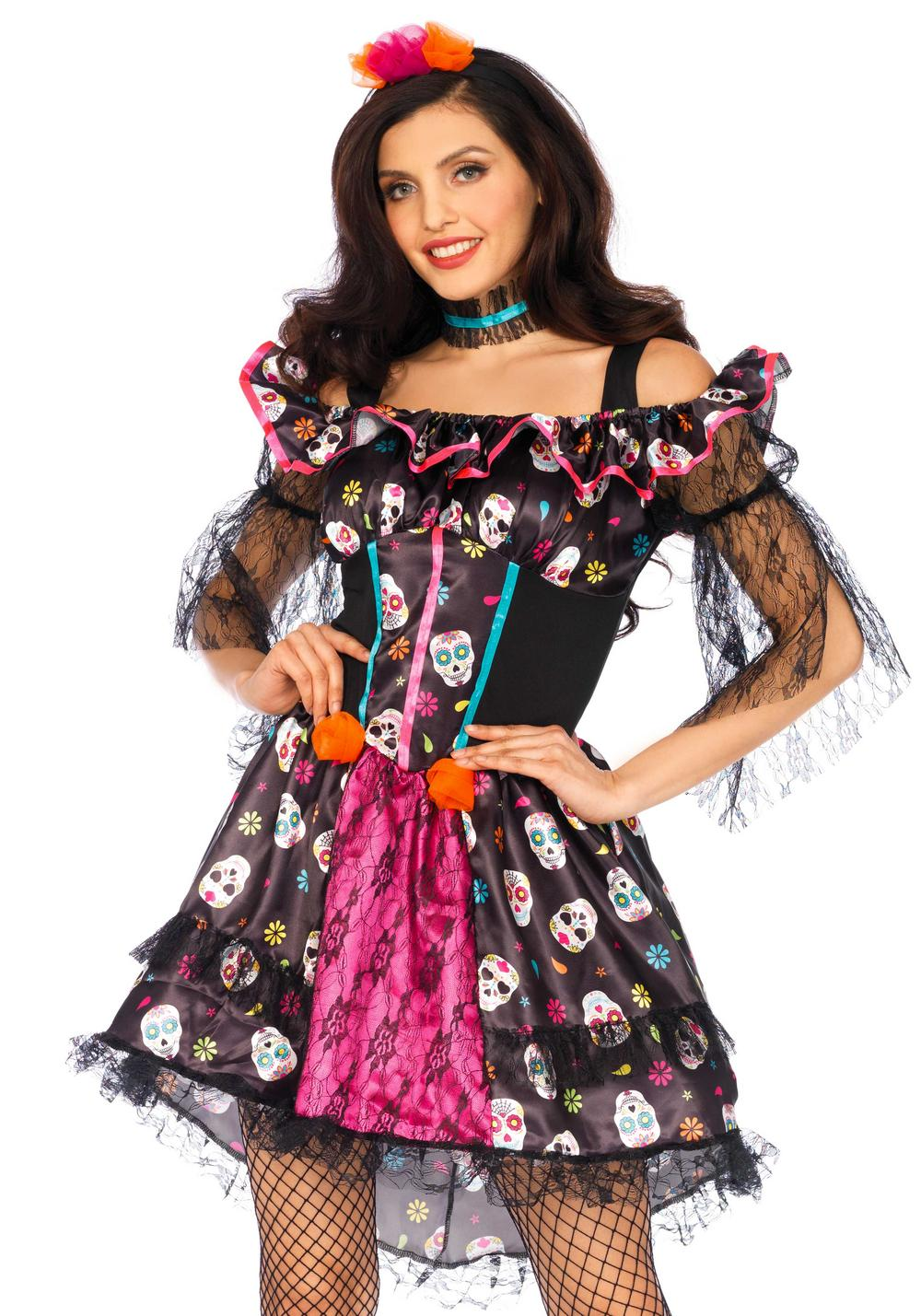Day Of The Dead Ladies Costume