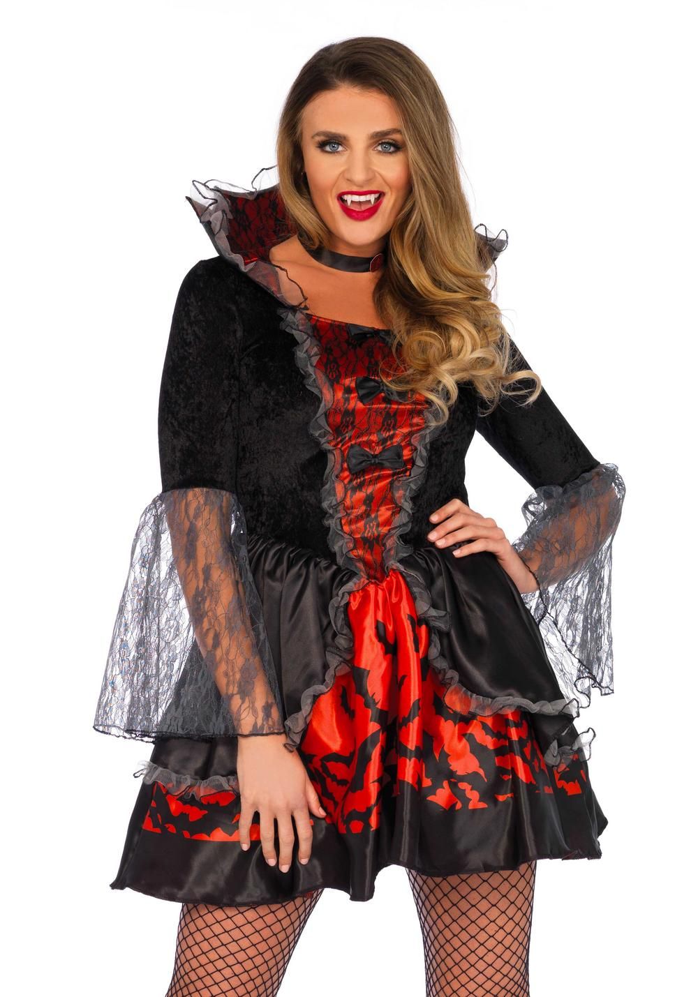 Deadly Dark Vampire Ladies Costume
