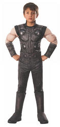 Deluxe Infinity War Thor Boys Fancy Dress Avengers Superhero Childrens Costume