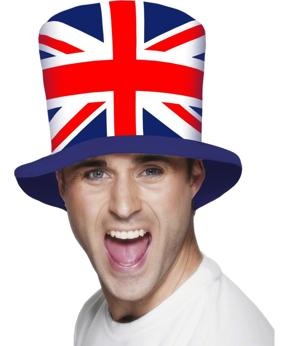 d983eab5cc9 Union Jack Flag Top Hat Fancy Dress Costume Accessory Sc 1 St Mega Fancy  Dress