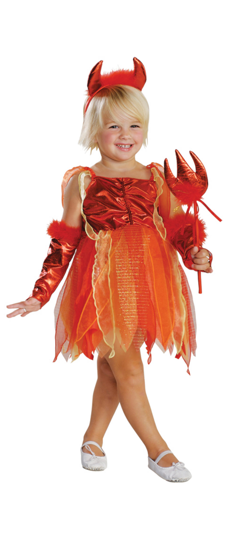 Girls Lil' Devil Halloween Costume