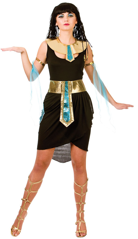 c7a54796901b7 Details about Ladies Cleopatra Costume Ancient Egypt Womens Egyptian Queen  Adults Fancy Dress