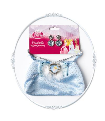 Girls Disney Princess Cinderella Bag and Jewellery Costume Set