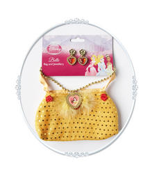 Girls Disney Princess Belle Bag and Jewellery Costume Set