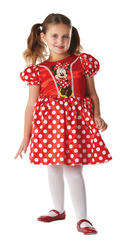 Girls Disney Minnie Mouse Red Dress Costume