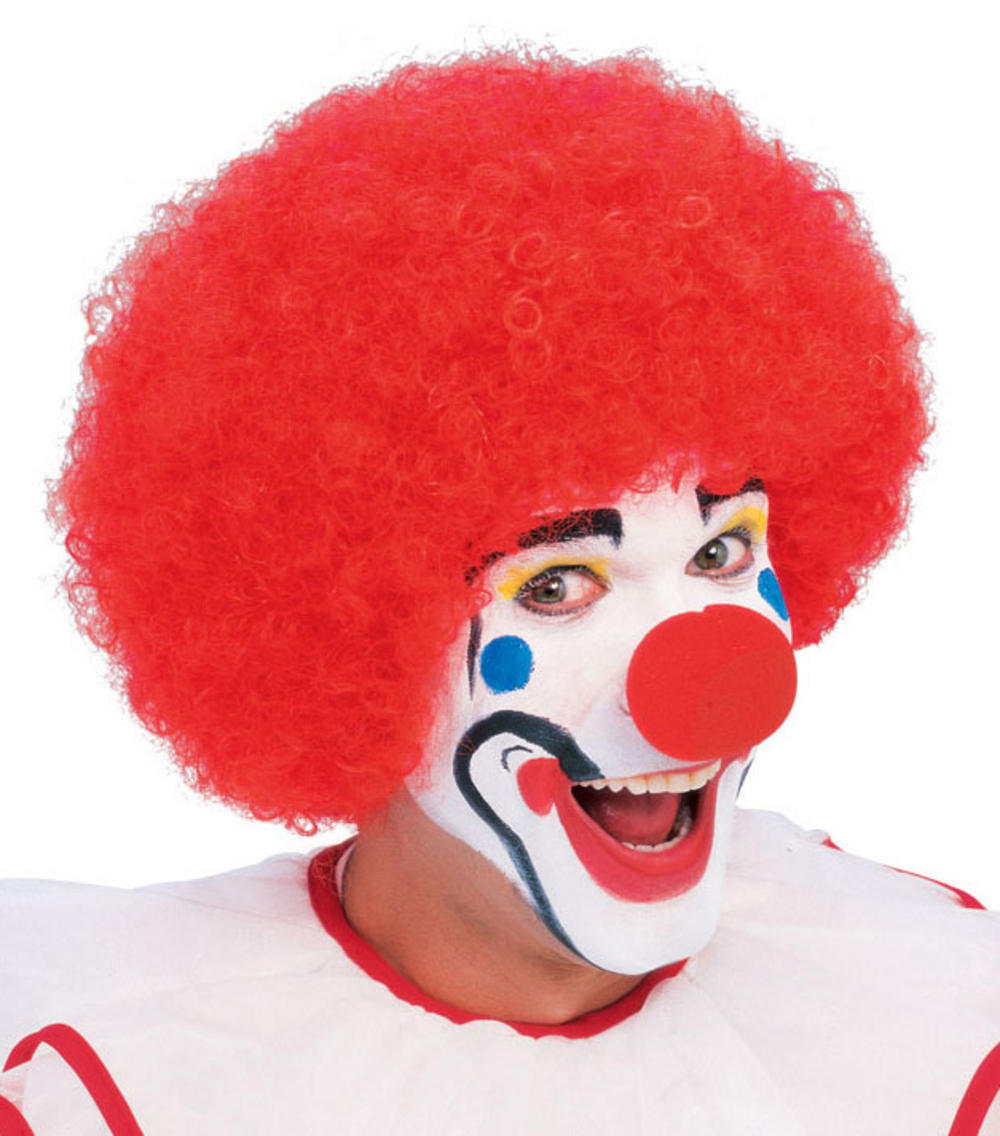 Red Afro Clown Wig Men S Fancy Dress Wigs Mega Fancy Dress