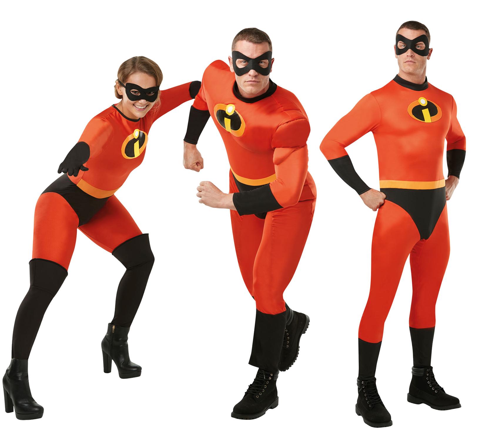 Adults Disney The Incredibles 2 Fancy Dress Superhero Mens ...