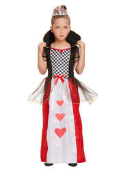 Queen Of Hearts Girls Fancy Dress