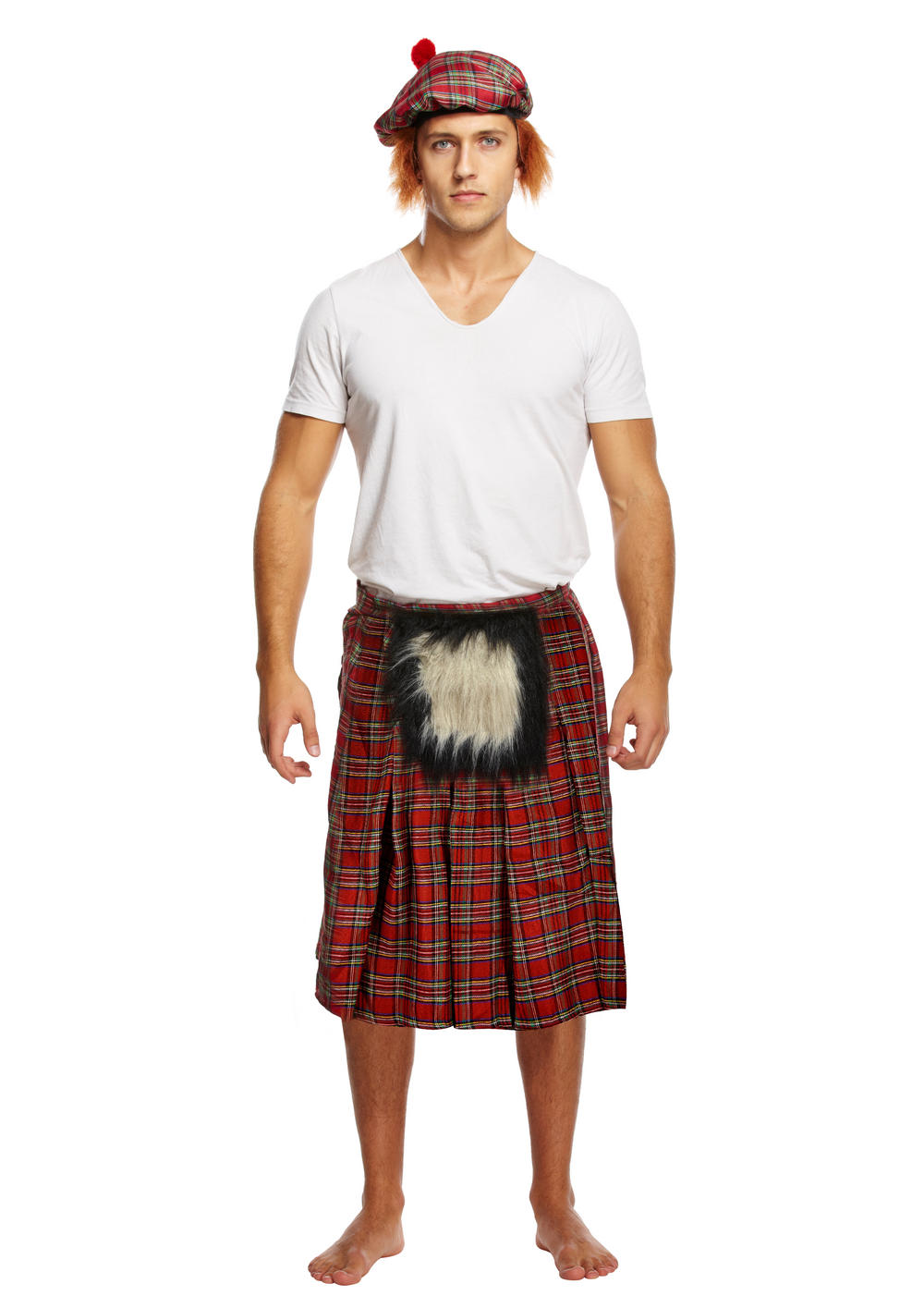 Kilt with Sporran Mens Costume