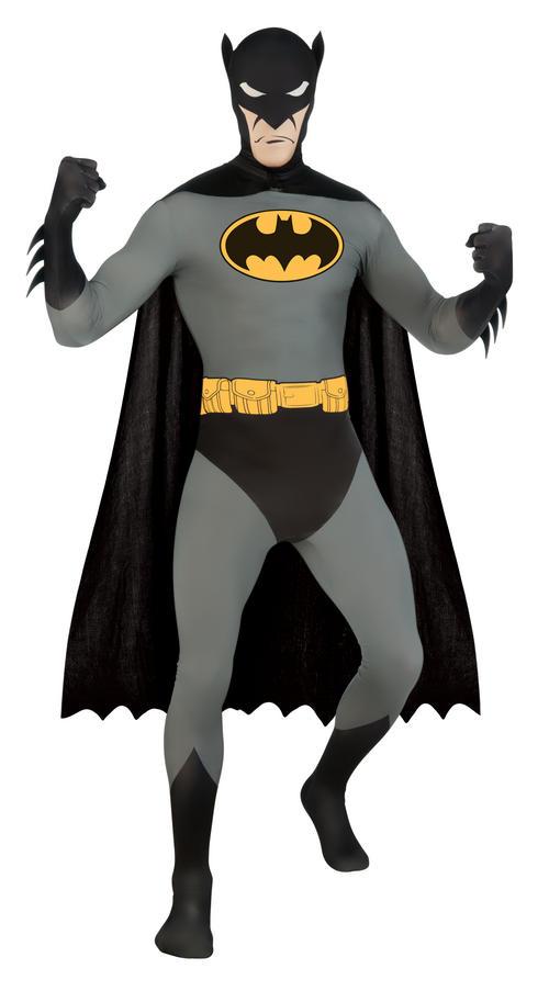 Batman Second Skin Fancy Dress Suit