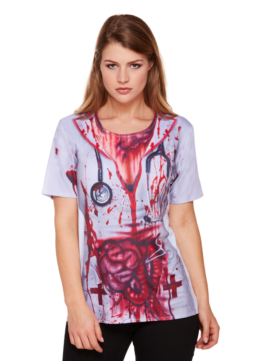 Ladies Bloody Nurse Shirt