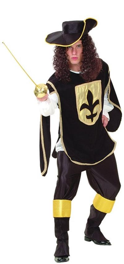 Black Musketeer Man Costume