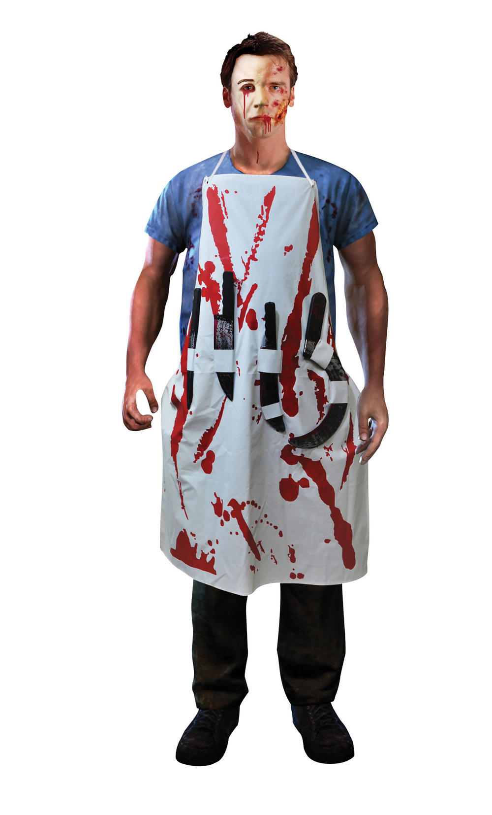 Bleeding Apron with 4 Weapons