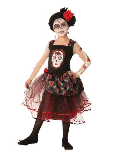 Girls Rose Senorita Costume