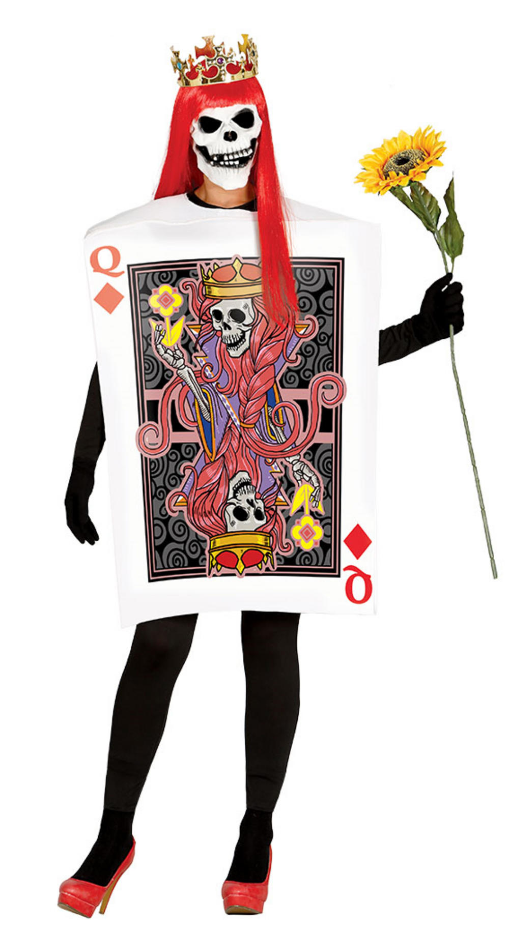 Adult Skull Queen Card Costume
