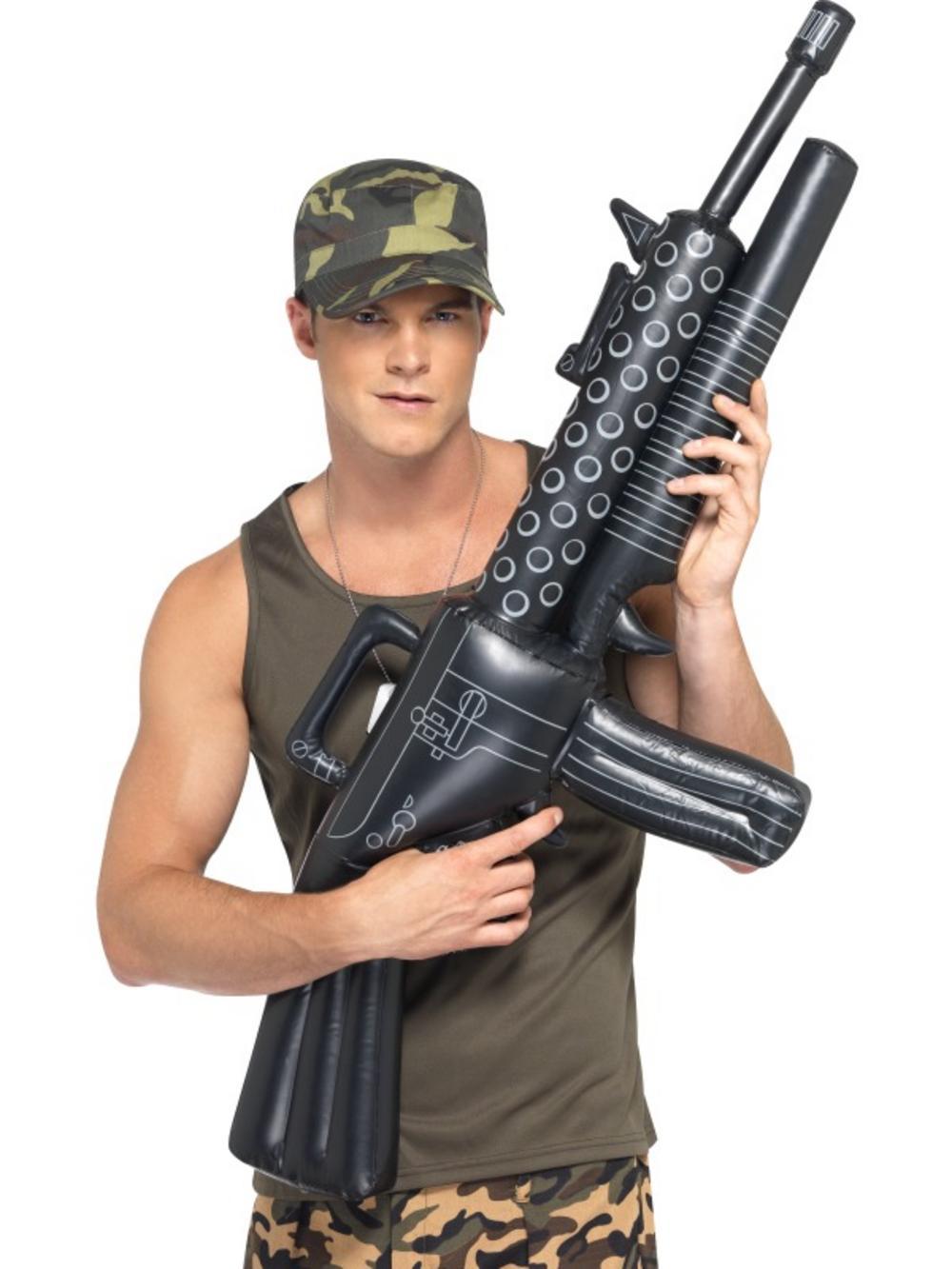 Inflatable Machine Gun Costume Accessory
