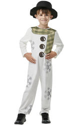 Kids Christmas Snowman Costume