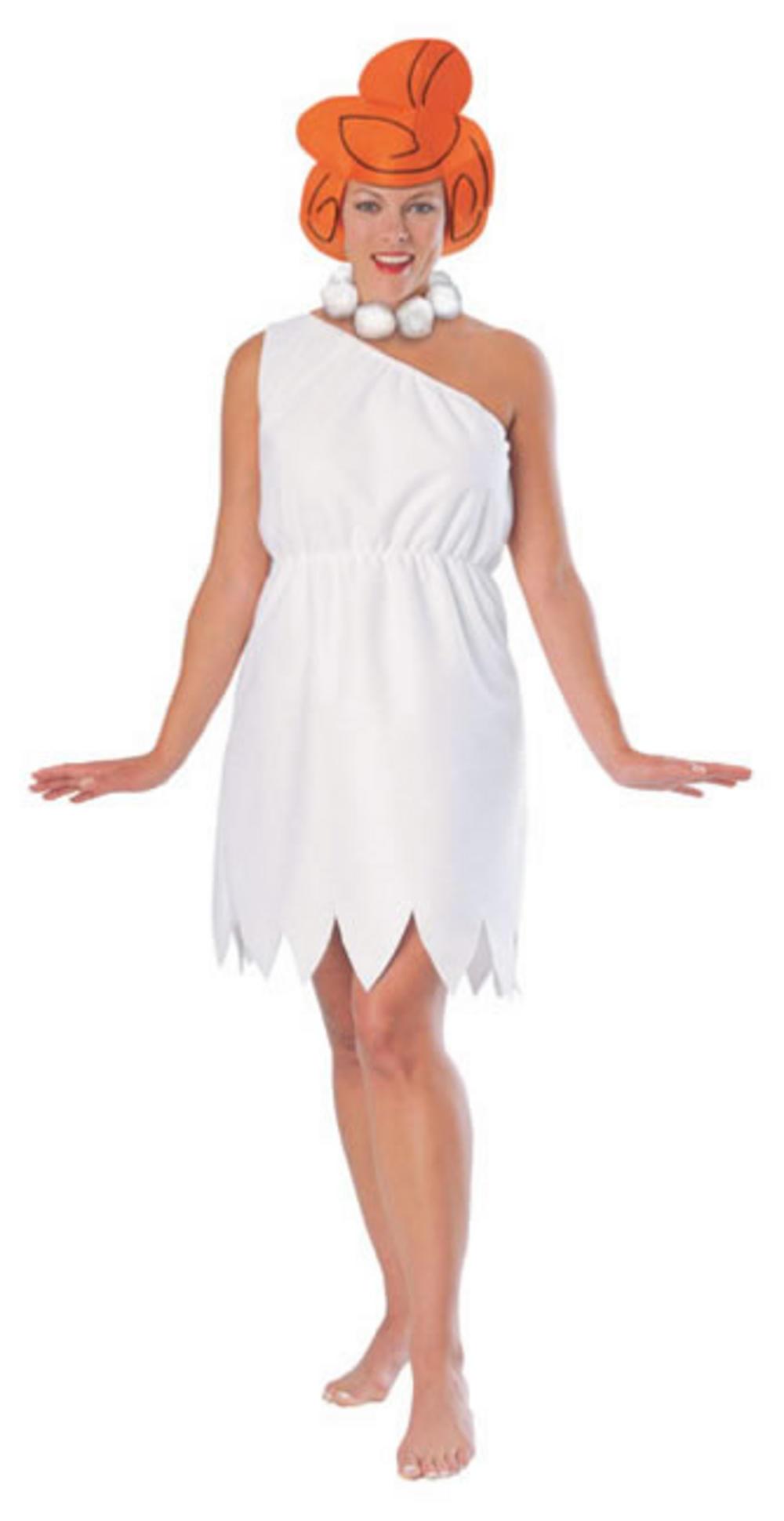 Wilma Flintstones Adult TV Fancy Dress Costume S 10 12