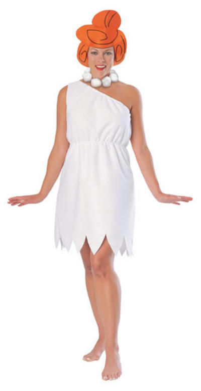 Wilma Flintstones Adult TV Fancy Dress Costume S 10 12