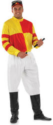 Red and Yellow Jockey Costume