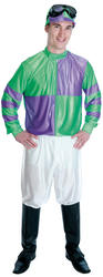 Green and Purple Jockey Costume