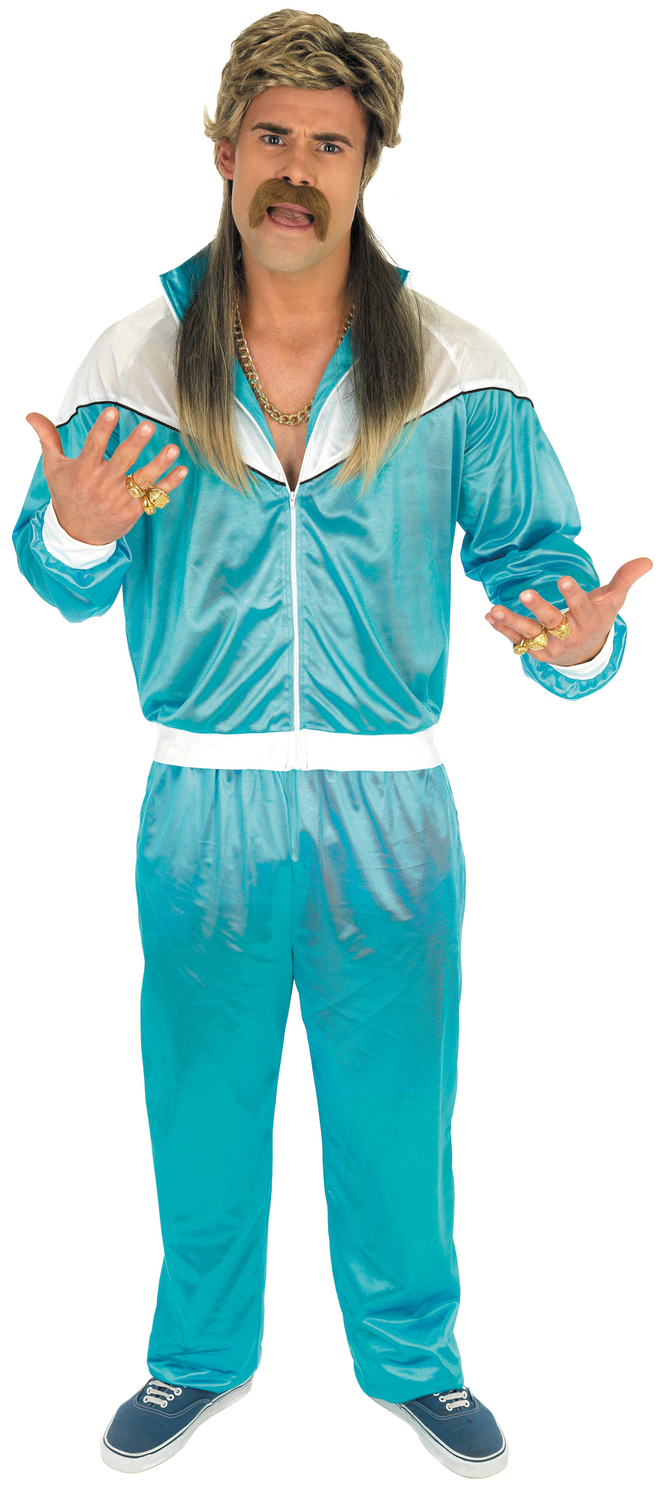 80s Blue Shell Suit | 80s Costumes | Mega Fancy Dress