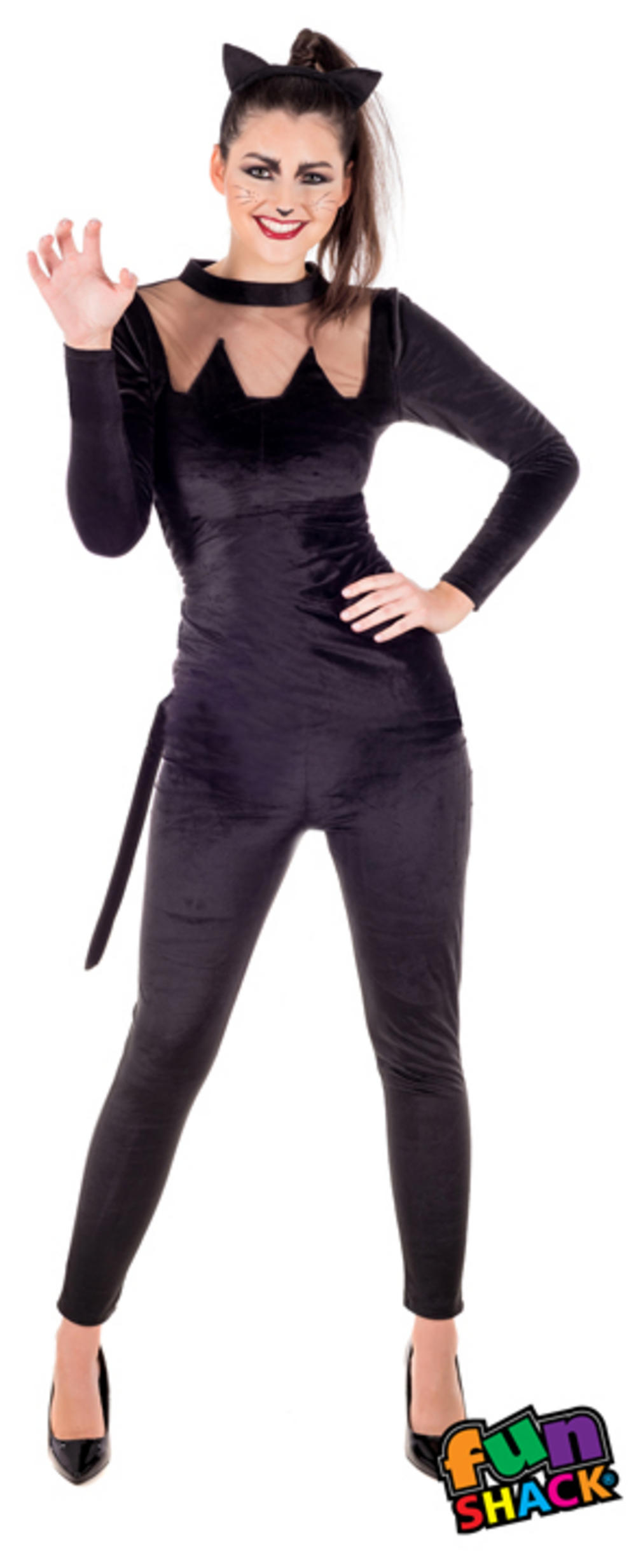 Ladies Black Cat Costume