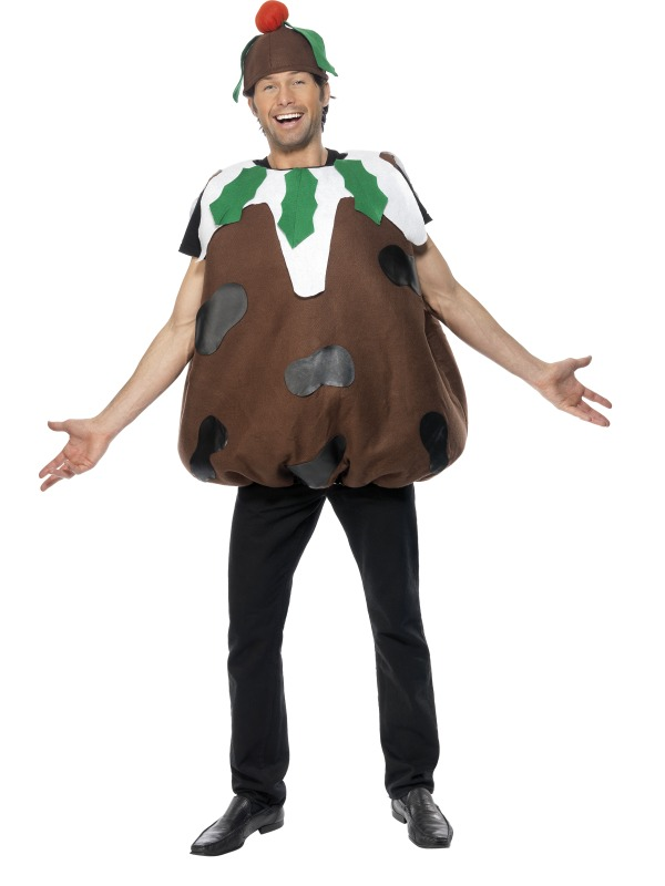 Christmas Pudding Adults Costume - Christmas Pudding Adults Costume Letter