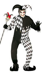 Mens Black Joker Costume