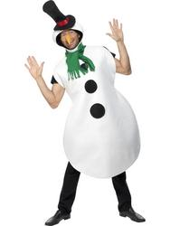 Christmas Snowman Mens Costume