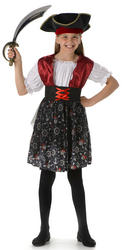 Girls Pirate Beauty Costume