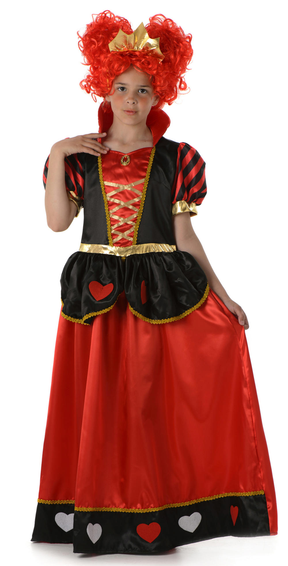 Girls Queen of Hearts Fancy Dress Costume