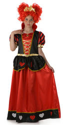 Girls Queen of Hearts Fancy Dress Costume