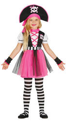 Girls Pink Pirate Costume