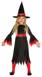 Girls Red Witch Costume