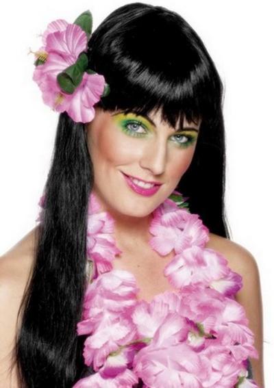 Hawaiian Pink Flower Hair Clip