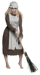 Ladies Ghost Maid Costume