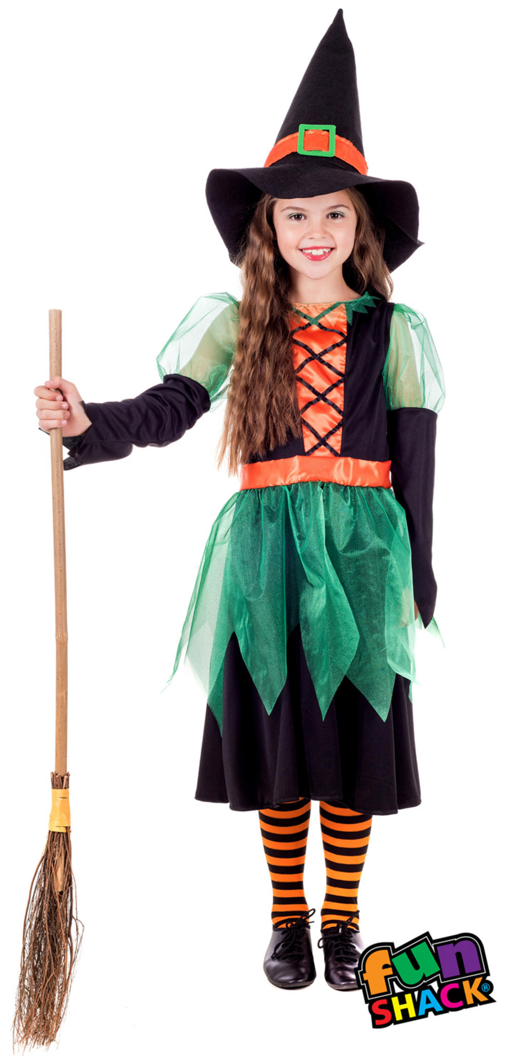 Green Witch Girls Costume